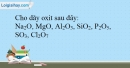 Bài 16.16 trang 39 SBT Hóa học 10