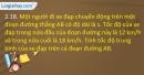 Bài 2.18 trang 10 SBTVật lí 10