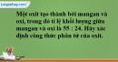 Bài 26.11 Trang 36 SBT hóa học 8
