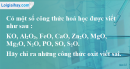 Bài 26.3 Trang 36 SBT hóa học 8
