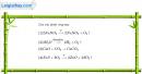 Bài 27.1 Trang 37 SBT hóa học 8
