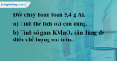 Bài 27.8 Trang 38 SBT hóa học 8