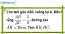 Bài 11 trang 104 SBT toán 9 tập 1