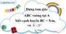 Bài 45 trang 85 SBT toán 8 tập 1