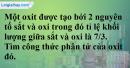 Bài 29.10 Trang 41 SBT hóa học 8
