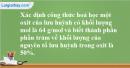 Bài 29.7 Trang 41 SBT hóa học 8