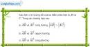 Bài 1.6 trang 10 SBT hình học 10