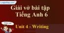 Writing - Unit 4 VBT tiếng anh 6 mới