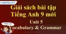 Vocabulary & Grammar - trang 40 - Unit 5 - SBT tiếng Anh 9 mới