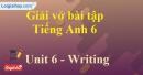 Writing  - Trang 56 Unit 6 VBT tiếng anh 6 mới