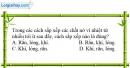 Bài 20.1 trang 63 SBT Vật lí 6