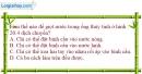 Bài 20.7 trang 64 SBT Vật lí 6