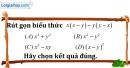 Bài I.2 phần bài tập bổ sung trang 14 SBT toán 8 tập 1