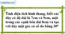 Bài 36 trang 161 SBT toán 8 tập 1