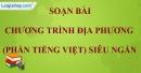 Soạn bài Chương trình địa phương (phần Tiếng Việt) siêu ngắn lớp 7