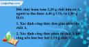 Bài 21.3 trang 30 SBT hóa học 11
