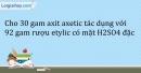 Bài 45.7 Trang 55 SBT Hóa học 9