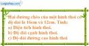 Bài 46 trang 163 SBT toán 8 tập 1