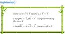 Bài 1.10 trang 21 SBT hình học 10