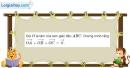 Bài 1.11 trang 21 SBT hình học 10