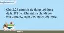 Bài 19.10 trang 48 SBT Hóa học 10