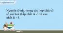 Bài 19.11 trang 49 SBT Hóa học 10