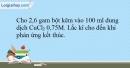 Bài 19.13 trang 49 SBT Hóa học 10
