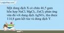 Bài 19.15 trang 49 SBT Hóa học 10