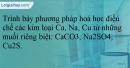 Bài 21.22 trang 49  SBT Hóa học 12