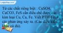 Bài 21.23 trang 49  SBT Hóa học 12