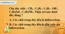 Bài 24.1, 24.2, 24.3 trang 34 SBT hóa học 11