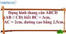Bài 5.1 phần bài tập bổ sung trang 86 SBT toán 8 tập 1