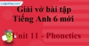 Phonetics - Unit 11 VBT tiếng anh 6 mới