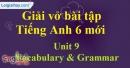 Vocabulary & Grammar - Trang 20 Unit 9 VBT tiếng anh 6 mới
