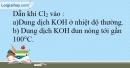 Bài 22.13 trang 54 SBT Hóa học 10