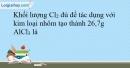 Bài 22.7 trang 53 SBT Hóa học 10