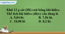 Bài 32.10 Trang 46 SBT hóa học 8