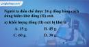 Bài 32.11 Trang 46 SBT hóa học 8