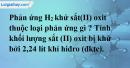 Bài 32.5 Trang 45 SBT hóa học 8
