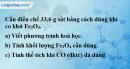 Bài 32.6 trang 45 SBT hóa học 8