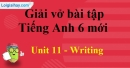 Writing - Unit 11 VBT tiếng anh 6 mới