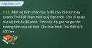 Bài 5.13 trang 18 SBT Vật lí 10