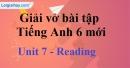 Reading  - Trang 8 Unit 6 unit 7 VBT tiếng anh 6 mới