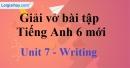 Writing  - Trang 10 Unit 7 VBT tiếng anh 6 mới