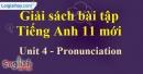 Pronunciation - Unit 4 SBT Tiếng anh 11 mới
