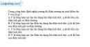 Bài I.1, I.2, I.3, I.4 trang 15 SBT Vật Lí 11