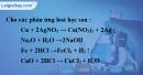 Bài 33.1 Trang 46 SBT hóa học 8