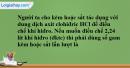 Bài 33.10 Trang 48 SBT hóa học 8