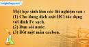 Bài 33.2 Trang 47 SBT hóa học 8