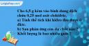 Bài 33.8 Trang 48 SBT hóa học 8